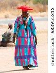 september 8  2008. herero woman ... | Shutterstock . vector #683955313