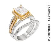 engagement diamond wedding ring ... | Shutterstock . vector #683960917