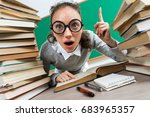 student having good idea ... | Shutterstock . vector #683965357