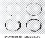 vector frames. ovals for image. ... | Shutterstock .eps vector #683985193