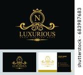 luxury logo template in vector...   Shutterstock .eps vector #683987683