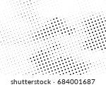 abstract halftone dotted... | Shutterstock .eps vector #684001687