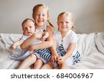 lifestyle portrait of cute... | Shutterstock . vector #684006967