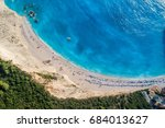 aerial view of the famous beach ... | Shutterstock . vector #684013627