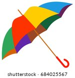colorful umbrella isolated on a ... | Shutterstock . vector #684025567
