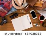 travel planning concept top... | Shutterstock . vector #684038383