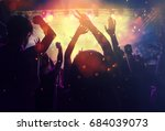 crowd at concert   cheering... | Shutterstock . vector #684039073