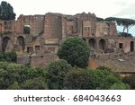 ruins in rome  italy. | Shutterstock . vector #684043663