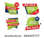 colorful shopping sale banner... | Shutterstock .eps vector #684045757