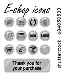 metallic e shop buttons set for ...