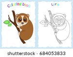 coloring book page for... | Shutterstock .eps vector #684053833