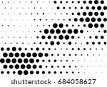 abstract halftone dotted... | Shutterstock .eps vector #684058627