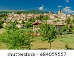 panorama of the city of spello... | Shutterstock . vector #684059557