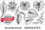 vector collection of hand drawn ... | Shutterstock .eps vector #684064393