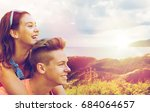summer holidays  love and... | Shutterstock . vector #684064657