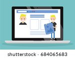 edit your profile. conceptual... | Shutterstock .eps vector #684065683