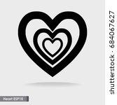 design big heart vector icon... | Shutterstock .eps vector #684067627
