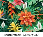 background from tropical... | Shutterstock . vector #684075937