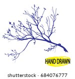 dry branch. tree branch without ... | Shutterstock .eps vector #684076777