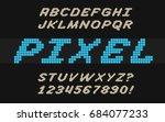 speed pixel font video computer ... | Shutterstock .eps vector #684077233