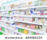 abstract blurred of pharmacy... | Shutterstock . vector #684084103
