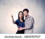 a young couple in love taking... | Shutterstock . vector #684090937