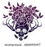 halloween. vector illustration. ... | Shutterstock .eps vector #684095497
