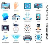 technologies of future icons... | Shutterstock .eps vector #684101647