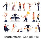 magic show people set of... | Shutterstock .eps vector #684101743