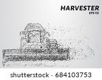 harvester of particles. the... | Shutterstock .eps vector #684103753