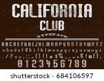 vintage font alphabet...   Shutterstock .eps vector #684106597
