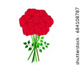 silhouette of a rose in a... | Shutterstock .eps vector #684108787