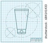 vector blueprint cosmetic cream ... | Shutterstock .eps vector #684141433