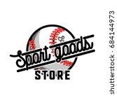 color vintage sport goods... | Shutterstock . vector #684144973