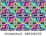 embroidery pattern. tribal... | Shutterstock .eps vector #684146143