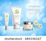 organic cosmetics skincare... | Shutterstock .eps vector #684146167