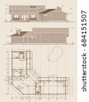 the author's architectural... | Shutterstock .eps vector #684151507