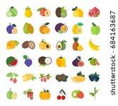 set of vector illustration of...   Shutterstock .eps vector #684163687