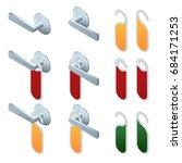 vector isometric hotel handles... | Shutterstock .eps vector #684171253