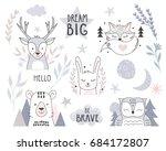 scandinavian style design... | Shutterstock .eps vector #684172807