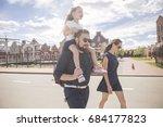 happy caucasian family of... | Shutterstock . vector #684177823