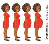 beautiful young african... | Shutterstock .eps vector #684192463