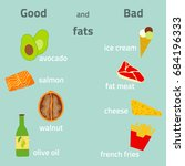 good and bad fats infographic.... | Shutterstock .eps vector #684196333
