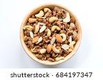 bowl of muesli and granola... | Shutterstock . vector #684197347