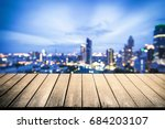 wood floor with blurred... | Shutterstock . vector #684203107