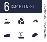 set of 6 nature icons set... | Shutterstock .eps vector #684206497