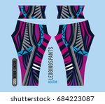 leggings pants fashion vector... | Shutterstock .eps vector #684223087