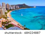 hawaii waikiki beach | Shutterstock . vector #684224887