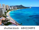 hawaii waikiki beach | Shutterstock . vector #684224893