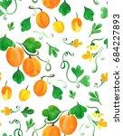 seamless watercolor pattern... | Shutterstock . vector #684227893